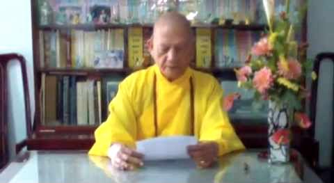 Hòa Thượng Thượng Thủ Hội Đồng Tăng Già Chứng Minh GĐPTVN chúc tết Ất Mùi – 2015