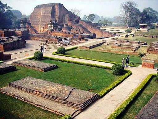Phế tích Na-lan-đà (Nalanda) - Trường đại học Phật Giáo lớn nhất và cổ xưa nhất Ấn Độ.